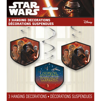 Star Wars The Force Awakens Hanging Party Decorations [Set of 3]
