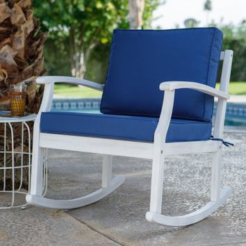 Belham Living Brighton Beach Deep Seating Outdoor Rocking Chair | Hayneedle