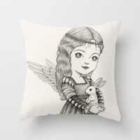 Peace Throw Pillow by Laurie A. Conley