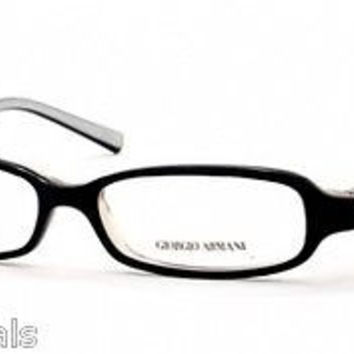 NEW AUTHENTIC GIORGIO ARMANI GA 383 COL 69M BLACK PLASTIC EYEGLASSES
