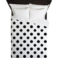 Duvet Cover - Black and White Ikat Polka Dots Duvet Cover - Glamour Decor - Fashion Decor - Dorm Decor - Teen Room Decor - Girls Room