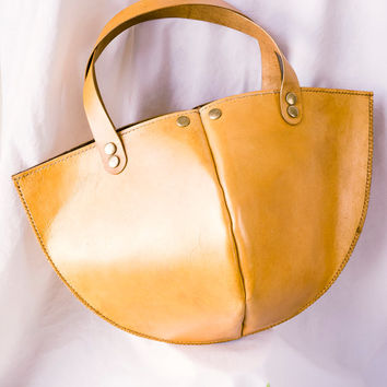 Genuine leather tote bag / leather bag / handmad bag/ woman bag / handbag