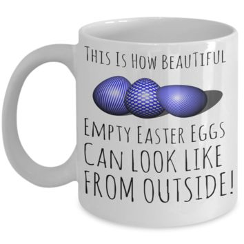 Easter Breakfast Lunch Evening Mug White Coffee Cup For Easter 2017 2018 Gifts For Family Grandparent Grandma Granddad Wive Husband Couples Funny Sayings Holiday Tea Coffee Mugs Cups Beautiful Easter Eggs Hunt Jar