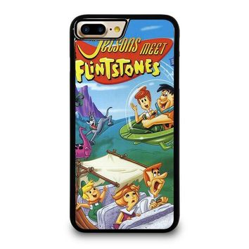 JETSONS MEET FLINTSTONES iPhone 4/4S 5/5S/SE 5C 6/6S 7 8 Plus X Case