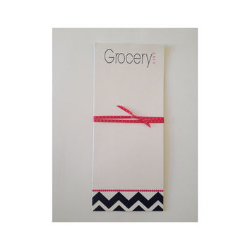 Grocery List Chevron Stationery Notepad Personalized Notepad Housewarming Gift