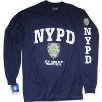 NYPD Shirt T-Shirt Officially Licensed Clothing Apparel by The New York City Police Department