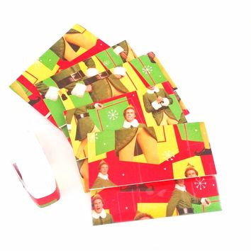 Funny Buddy the Elf Christmas Mini Note Card Set Cute Gift Card Holder