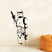 STAR WARS Stormtrooper Darth Vader Vinyl Wall Stickers Wall Decals Home Decor Wall Art Decal Free Shipping