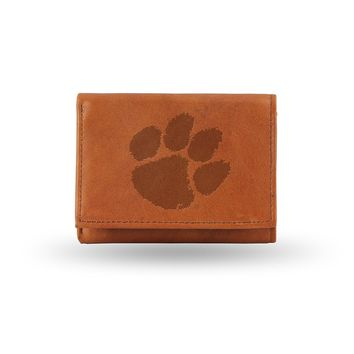 Clemson Tigers Embossed Trifold Wallet