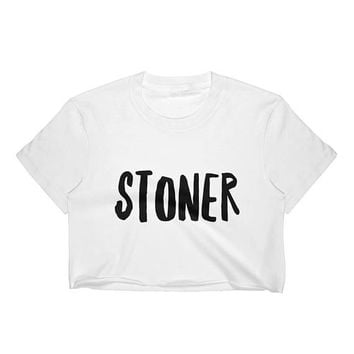 Stoner Crop Top, Stoner Shirt, Stoner Gifts, Stoner Girl, Stoner Clothing, Weed Shirt, Marijuana Shirt, 420 Shirt, Cannabis Shirt, Pot Shirt