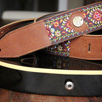 Gypsy Leather Guitar Strap | The COPPERPEACE Store
