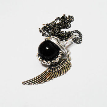 Black Materia, FF7, Final Fantasy 7, Final Fantasy, Sephiroth Materia, Meteor Materia, One Winged Angel, Sephiroth Necklace