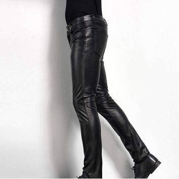 Mens Leather Pant Biker Pants