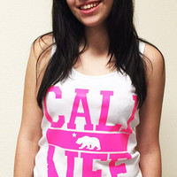 White Cali Life Tank-Top