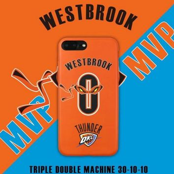 NBA Basketball OKC MVP Russell Westbrook 0 Cell Phone Cases For iphone 6 6s 6Plus 6sPlus 7 7Plus Ninja Turtles Men Case Cover