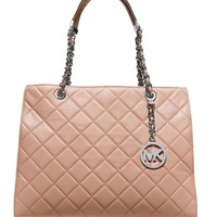 MICHAEL Michael Kors Susannah Quilted Leather Large Tote