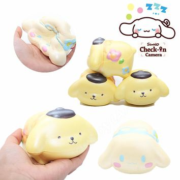 10PCS/lot Cartoon Purin Cinnamoroll Dog Squishy Cute Japan Slow Rising Jumbo Phone Strap Scented Pendant Bread Cake Kid Toy Gift