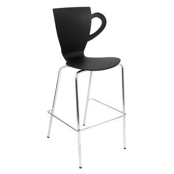 Lumisource Café Chai Bar Stool in Black