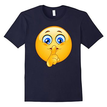 Emoji Shirt Emoticon Making Silence Sign