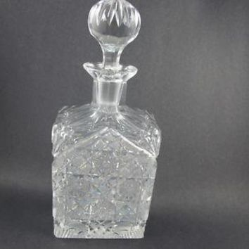 Rectangle cut glass  decanter  crystal