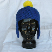 South Park Craig Tucker Navy With Yellow Pom by ChellesCraftCorner