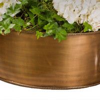 Dessau Home Antique Brass Centerpiece/Planter - Gu527