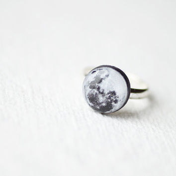 moon ring astronomy jewelry from smafactory on etsy