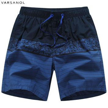Men Patchwork Male Beach Board Shorts Summer Breathable Cotton Men's Shorts