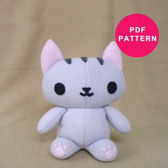 Gallery for cat plush sewing pattern - Cat clothing patterns free ...
