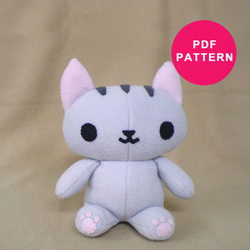 Plush Pattern - Kitty Cat PDF Sewing Pattern