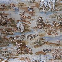 Large African Animal Safari Print Quilter Cotton Fabric by Timeless Treasures