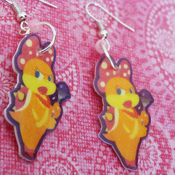 Wendy Koopa - Mario Hook Earrings