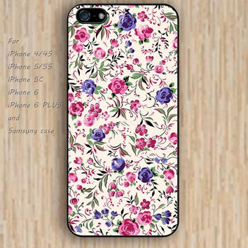 iPhone 5s 6 case flowers Dream catcher colorful pink phone case iphone case,ipod case,samsung galaxy case available plastic rubber case waterproof B466