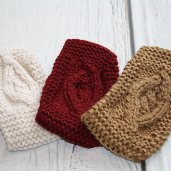 Knitted Headbands, Cable Knit Headband, Knitted Headband, Knit Headband, Crochet Headwrap, Knit Turban, knitted turbans, knit headband
