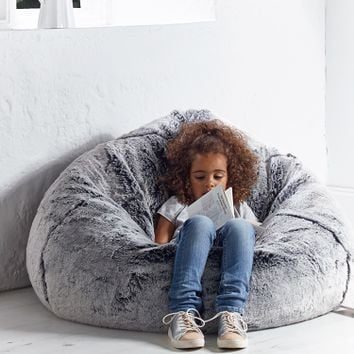 NEW Supersoft Faux Fur Beanbag - Husky