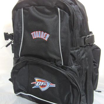 NBA NWT EMBROIDERED ADULT 3 COMPARTMENT BACKPACK - OKLAHOMA CITY THUNDER