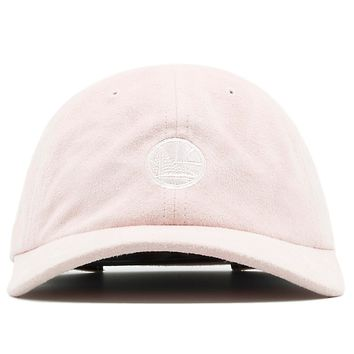 Golden State Warriors Pink Micro Suede Slouch Dad Hat