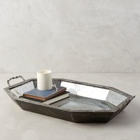 Ephemeral Etchings Tray by Anthropologie in Silver Size: One Size Decor