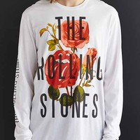 The Rolling Stones Floral Long-Sleeve Tee- White