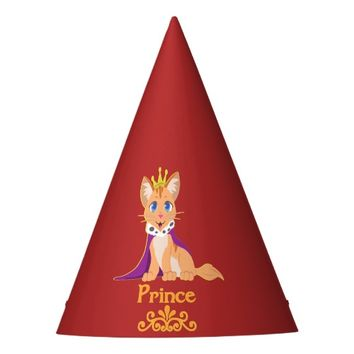 Prince Kitten Party Hat