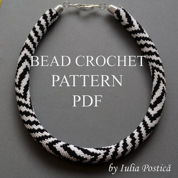 Pattern For Bead Crochet Necklace From Beadedtreasury On Etsy