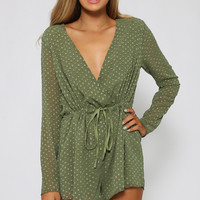 Back To Love Playsuit - Green