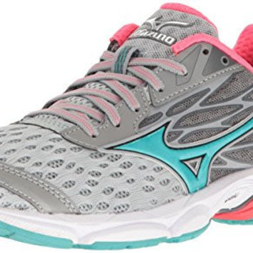 MIZUNO WOMENS WAVE CATALYST 2 RUNNING SHOE, GREY/MINT, 6.5 B US