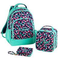 Monogrammed Backpack Confetti Dots Bookbag Back Pack Book Bag Polkadots