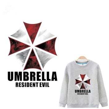 Resident evil umbrella Iron On A-level Patches Heat Transfer Pyrography For DIY T-Shirt Clothing Decoration Printing 16*23CM