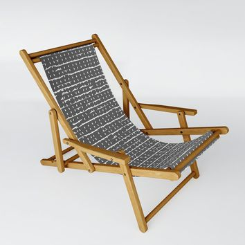 Broken Stripes & Dots Sling Chair by duckyb