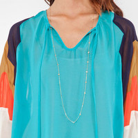 Kelly Blouse in Turquoise :: tobi