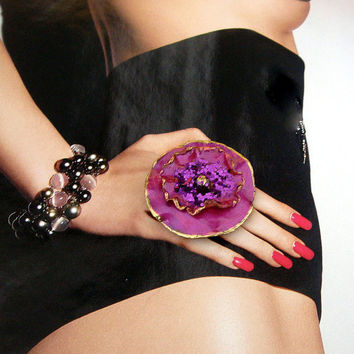 Magnificent Maggie Magenta Ring