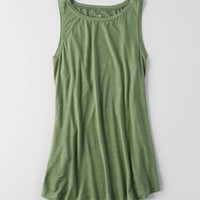 Soft & Sexy High Neck Tank, Olive