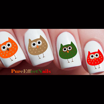 Fall Owl Nail Decals